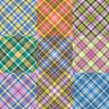 Modelos de la tela escocesa del color fijados Imagen de archivo