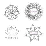 Modelos de la yoga del boho del vector ilustración del vector