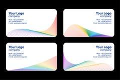 Modelos de las tarjetas de visita Imagen de archivo