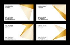 Modelos de las tarjetas de visita Fotografía de archivo