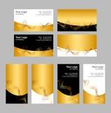 Modelos de las tarjetas de visita Imagen de archivo libre de regalías