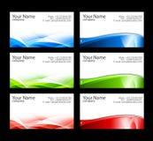 Modelos de las tarjetas de visita Fotografía de archivo libre de regalías