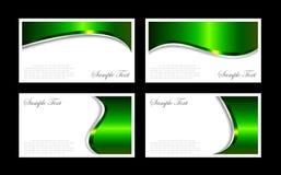 Modelos de las tarjetas de visita Imágenes de archivo libres de regalías