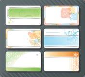 Modelos de las tarjetas de visita Foto de archivo libre de regalías