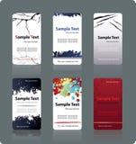 Modelos de las tarjetas de visita Foto de archivo