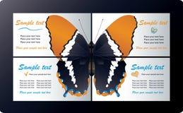 Modelos de las tarjetas de visita Imagenes de archivo