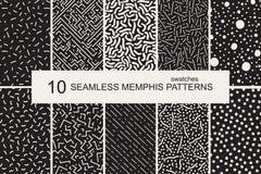 Modelos de Memphis de las muestras - inconsútiles Estilo retro 80-90s de la moda Imagen de archivo libre de regalías