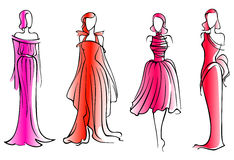 Modelos de moda Imágenes de archivo libres de regalías