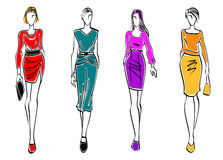 Modelos de moda casuales Imagen de archivo libre de regalías