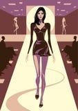 Modelos de moda en comentario Imagen de archivo libre de regalías