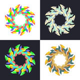 Modelos de mosaico geométricos circulares Fotos de archivo
