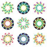 Modelos de mosaico geométricos circulares Fotos de archivo libres de regalías