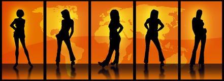 Modelos de Orange World Fotos de archivo