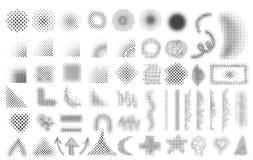 Modelos de semitono fijados Imagenes de archivo