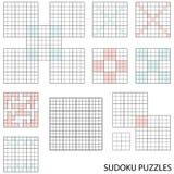 Modelos de Sudoku Fotografía de archivo