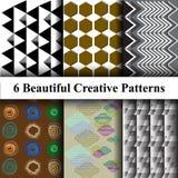 Modelos decorativos abstractos en estilo moderno Libre Illustration