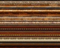 Modelos decorativos rústicos antiguos del marco Imágenes de archivo libres de regalías