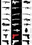 Modelos del arma foto de archivo