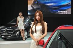 Modelos del Car Show Fotos de archivo libres de regalías