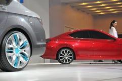 Modelos del Car Show Imagen de archivo libre de regalías