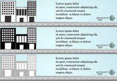 Modelos del edificio Imagen de archivo libre de regalías