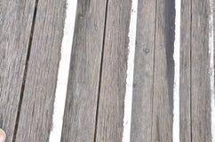 Modelos del envejecimiento de la madera con el terraplén y los clavos Fotografía de archivo