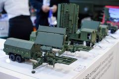 Modelos del equipo militar moderno de la producción ucraniana Foto de archivo libre de regalías