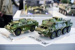 Modelos del equipo militar moderno de la producción ucraniana Fotos de archivo libres de regalías