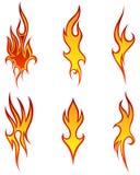 Modelos del fuego fijados Fotos de archivo