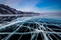 Modelos del hielo en el lago Baikal Siberia, Rusia fotografía de archivo