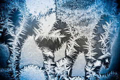 Modelos del invierno en la ventana Foto de archivo