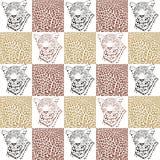 Modelos del leopardo para las materias textiles y el papel pintado ilustración del vector