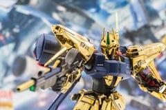 Modelos del plástico de la escala de Gundam Imagen de archivo