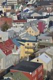 Modelos del tejado en Reykjavik céntrico Imagenes de archivo