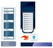 Modelos del vector del Web site Foto de archivo libre de regalías