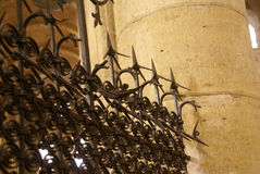 Modelos detallados de la puerta del hierro Foto de archivo