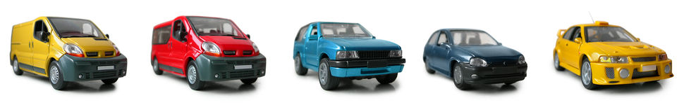 Modelos do carro - vários automóveis Foto de Stock Royalty Free
