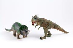 Modelos dos dinossauros Fotos de Stock Royalty Free