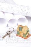Modelos e casa imagem de stock royalty free