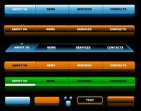 Modelos Editable de la navegación del Web site Imagenes de archivo