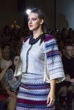 Modelos en el desfile de moda ucraniano Imagen de archivo