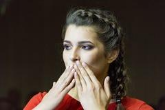 Modelos en el desfile de moda ucraniano Fotos de archivo libres de regalías