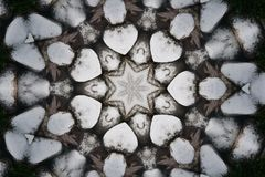 Modelos en forma de corazón de la repetición con una estrella en el centro