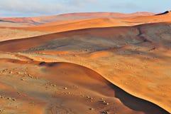 Modelos en la arena del Namib Imagenes de archivo
