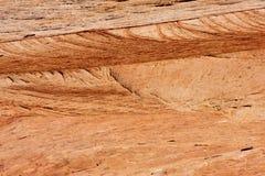 Modelos en la roca de la piedra arenisca Foto de archivo libre de regalías