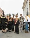Modelos en la sesión fotográfica de la calle Imagen de archivo libre de regalías