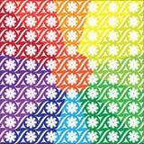 Modelos en un fondo multicolor Fotos de archivo