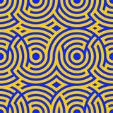 Modelos espirales bicolores Modelo inconsútil Fondo del vector moderno Línea hipnótica Foto de archivo