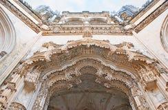 Modelos finos de la capilla inacabada en el convento de Batalha Imagen de archivo