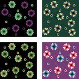 Modelos florales stock de ilustración